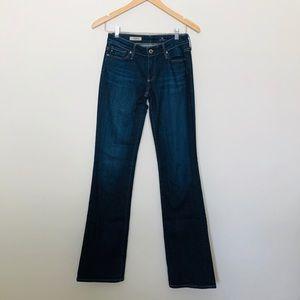AG Jeans The Jessie Curvy Boot Cut Dark Was Sz 25R